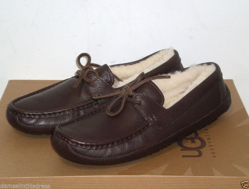 1af5f702bde UGG Australia BYRON Leather Moccasin Slippers Shoe CHOCOLATE 10US ...