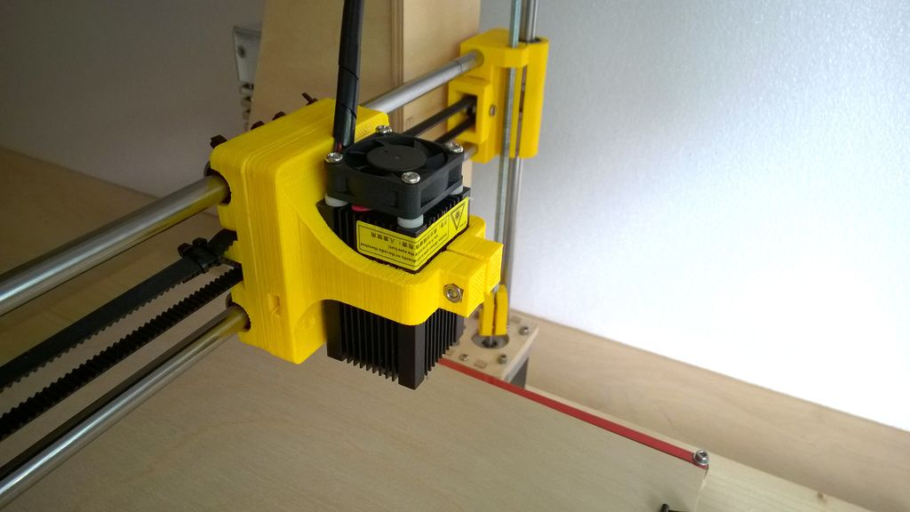 Prusa i3 Laser Mount for Laser Engraving and Cutting (fits
