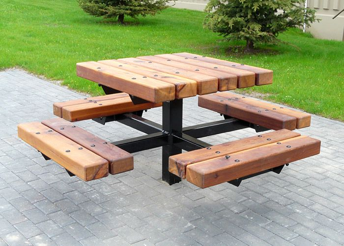 Delicieux Unique Square Picnic Table Design