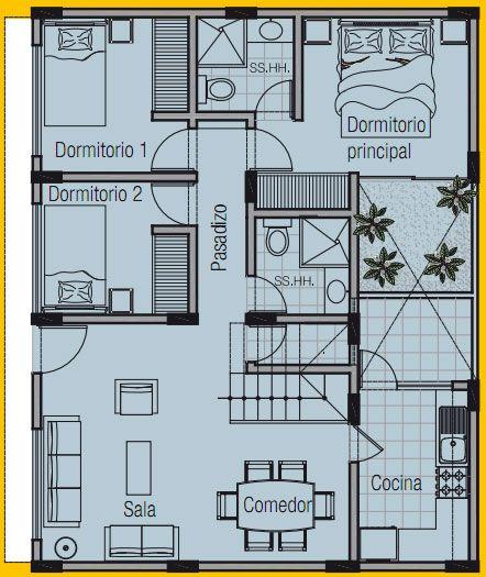 Plano de vivienda de 8m x 10m planos de casas gratis y - Diseno de planos de casas ...