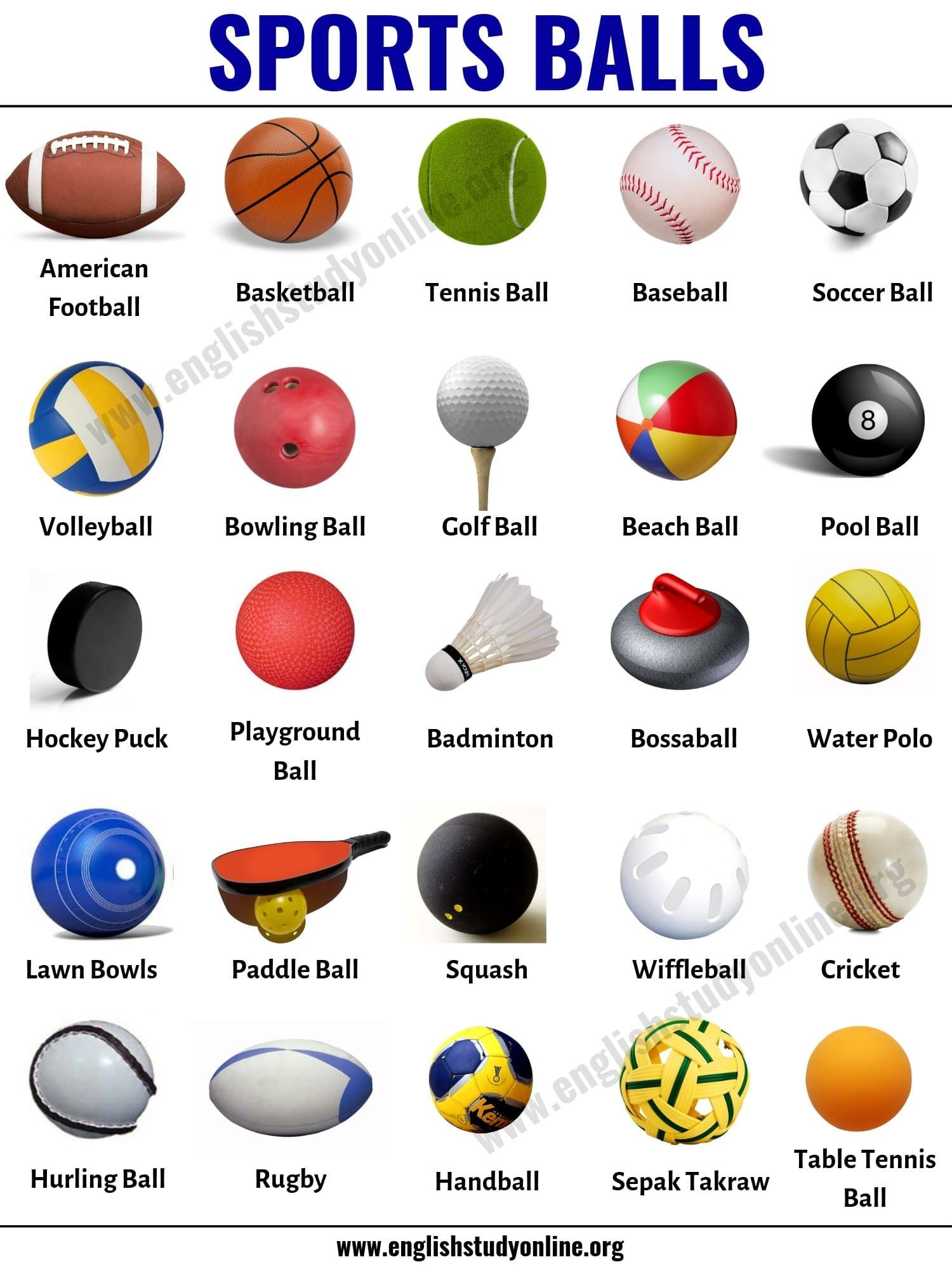Sports Balls List Of 25 Popular Ball Games Around The