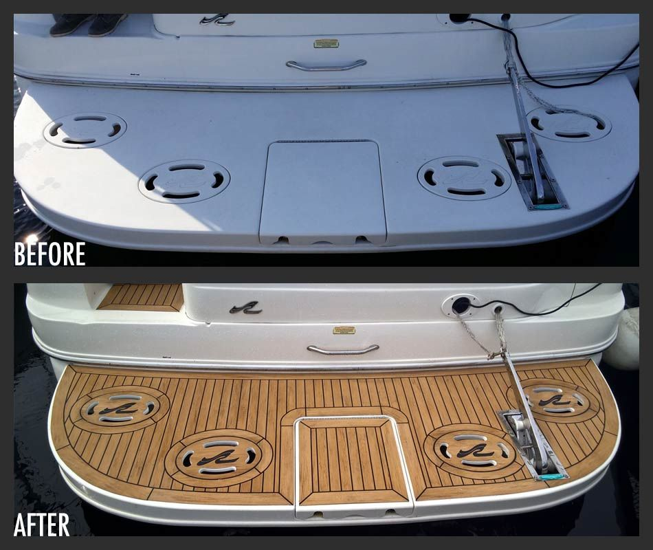 Before After Boat Accessories Cabin Cruiser Boat Boat Decor