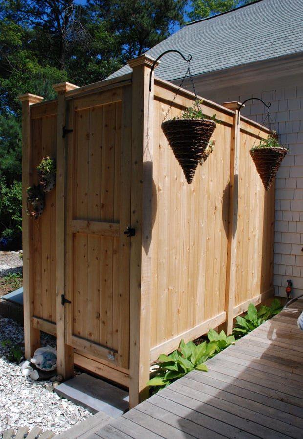Cedar Outdoor Shower Deluxe Free Standing Outdoor Shower
