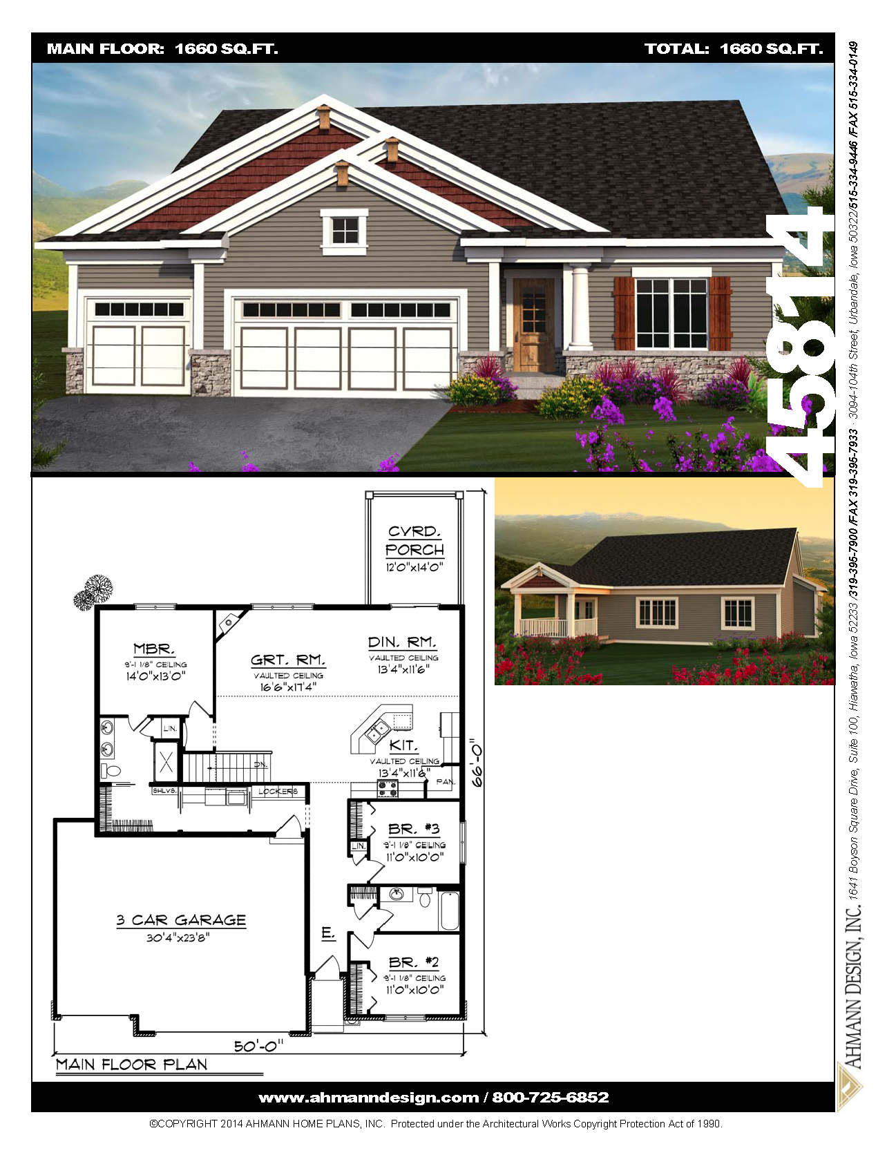 Ahmann Design Plan 45814 This Classic Ranch Sports An Easy To Build Roof Line Shuttered Windows And A Large Colu House Layout Plans House Plans House Layouts