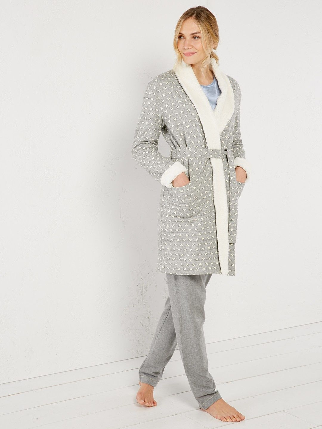 Winter nights heart robe | nightwear | White Stuff | My White Stuff ...