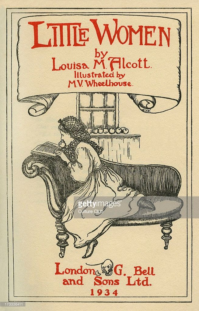 Little Women by Louisa M Alcott. Illustrations by M V Wheelhouse (1895-1933). Louisa May Alcott
