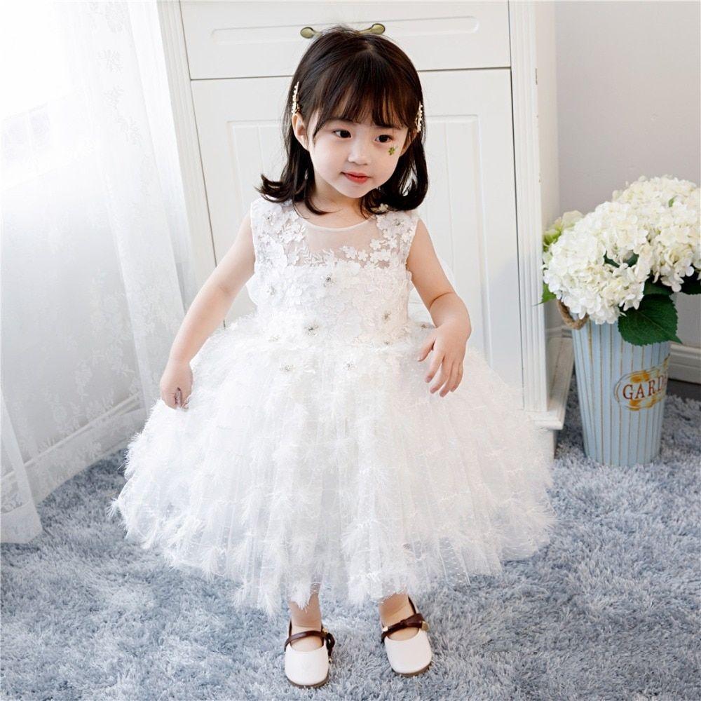 Flower Girl Dress,FREE SHIPPING,White Dress baptismal dress Wedding Flower Girl Dress,White Party Dress Baby White Dress