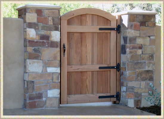 A Gorgeous Wooden Gate To Offer A Warm Invitation Yet At