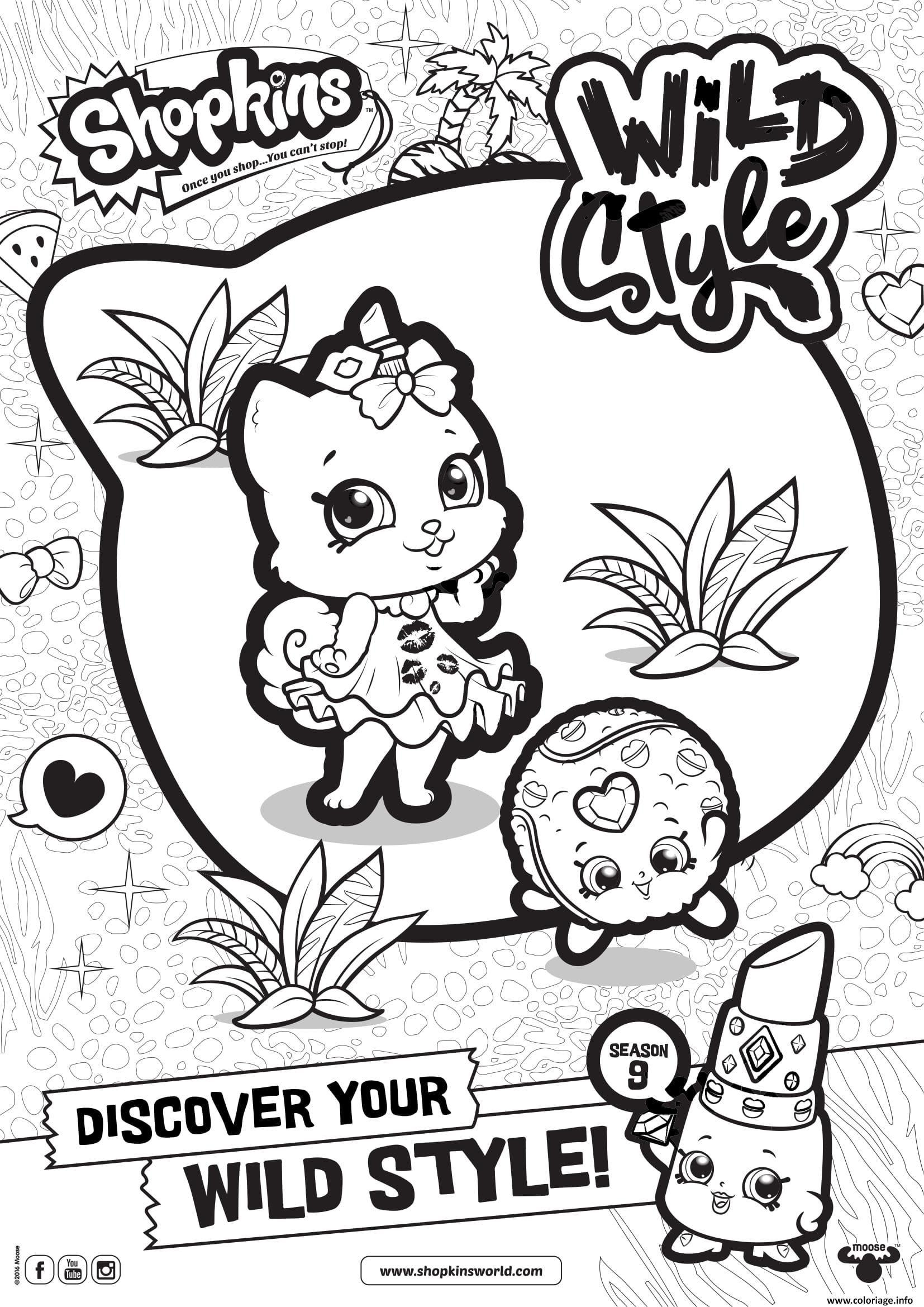 Coloriage shopkins saison 9 wild style 3 dessin à imprimer