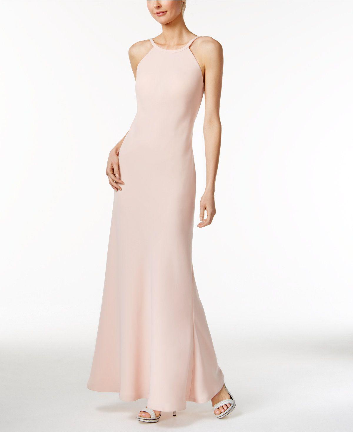 Calvin klein openback halter gown halter gown gowns and elegant gown