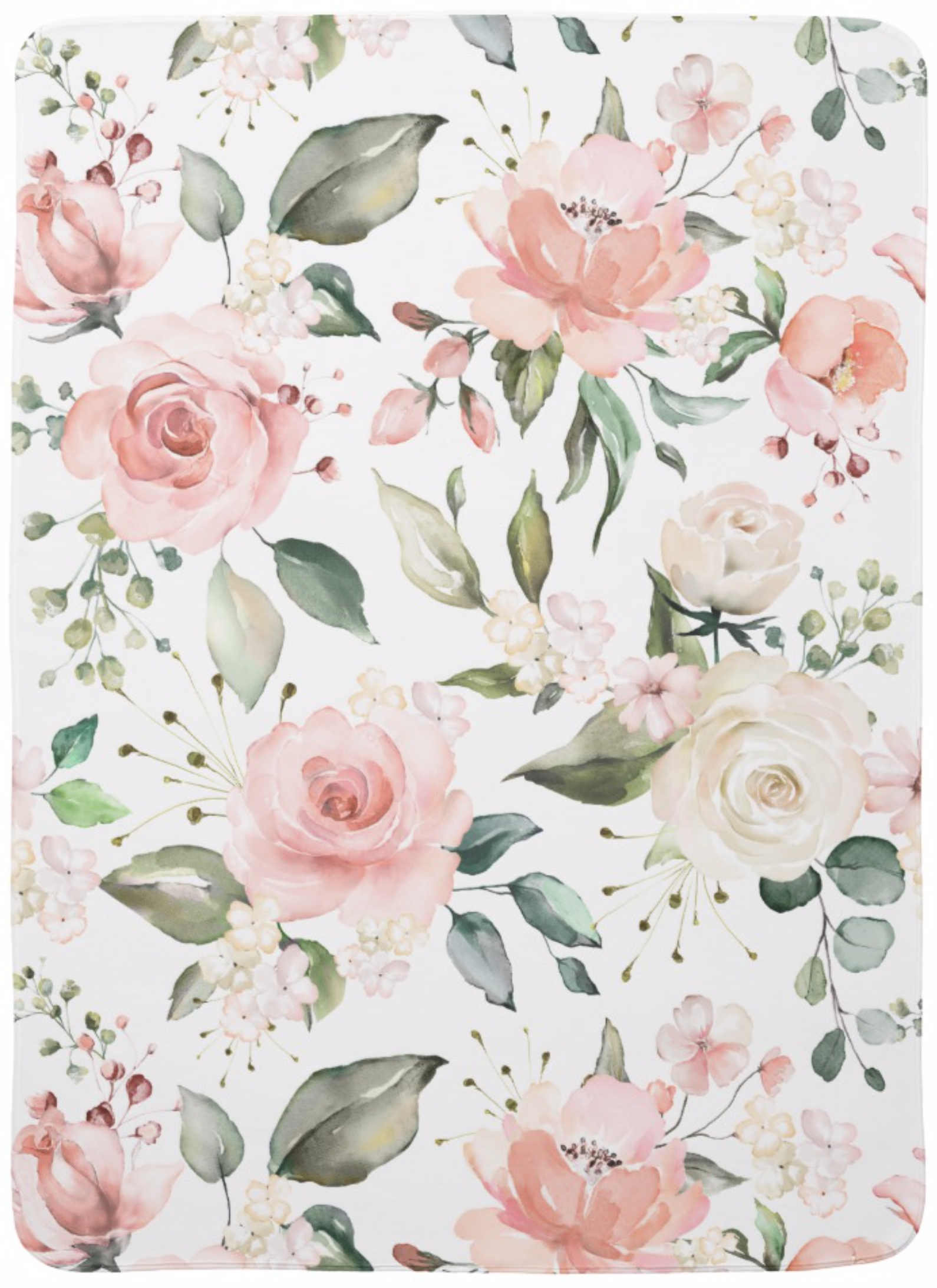 Sunny Floral Pastel Watercolor Flowers Baby Blanket Zazzle Com