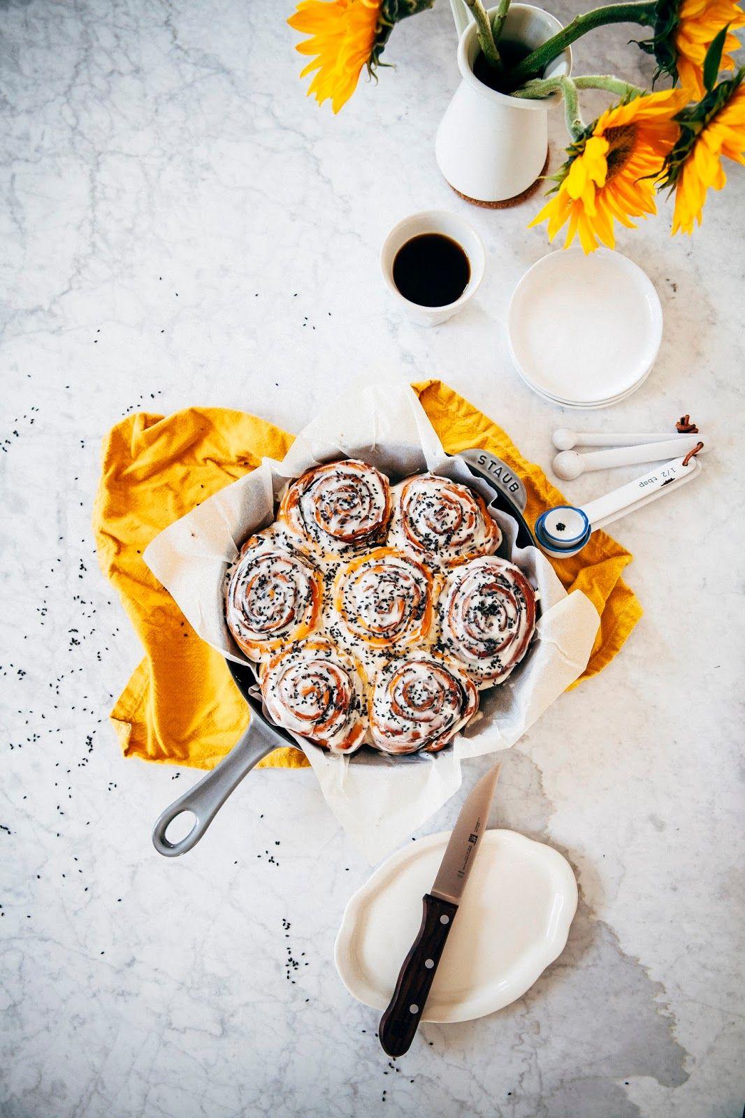 Black tahini morning buns recipe fun foods to make