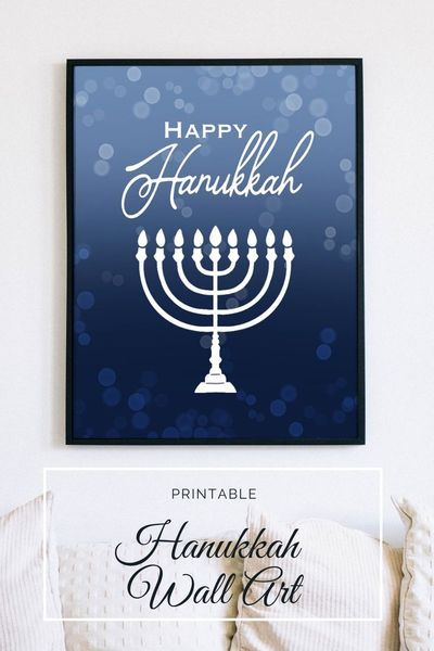 Printable Hanukkah Wall Decor Set Of 2 Hanukkah Wall Art Etsy Etsy Wall Art Hanukkah Chanukah Decor