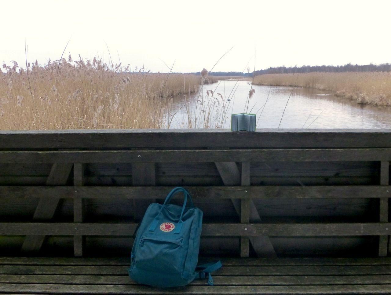 Great spot for a book-break - #backpaker #bench #bok #book #booklr #break #buch #Federsee #fjällräven #heritage #kånken #lake #landscape #leggere #lesen #lire #livre #pause #pretty #rucksack #schön #site #sjö #world