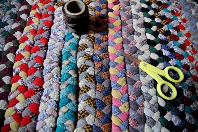 homemade braid rug #craft #diy #homemaderugs #rugs #interiors #home #yourhomemagazine #making #sweing #knitting