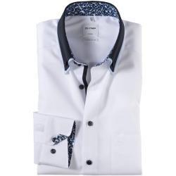 Olymp Luxor Hemd, comfort fit, Button-down, Weiß, 40 Olymp