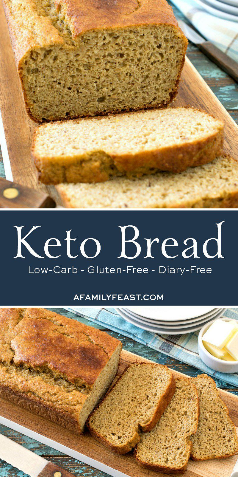 Homemade Keto Bread - Soft, moist and delicious low-carb ...
