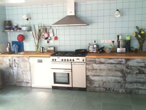 Zinc clad kitchen designed by Rebecca Dargie, supplied by Metal Sheets