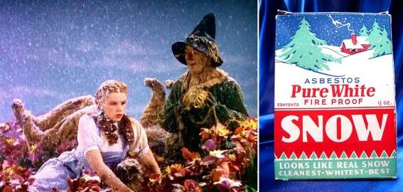 Judy Garland Getting Snowed On In The Award Winning Movie Wizard Of Oz Snow Well Thats Asbestos