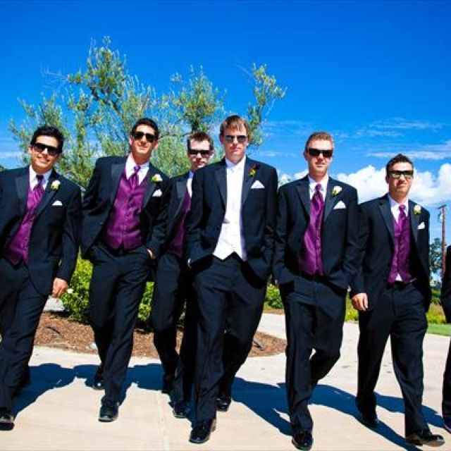 Black And Purple Tuxedo | Kids Tuxedo Packages - Boys Tuxedos with ...