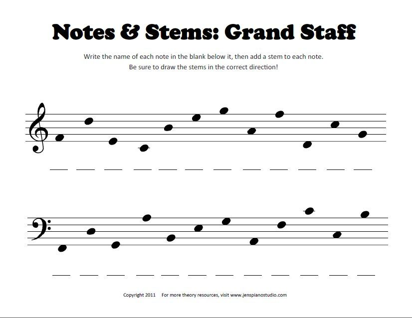 Worksheet Piano Theory Worksheets 1000 images about theory sheets on pinterest elementary music students must identify notes the grand staff then correctly add a stem to each note complete this worksheet description fro