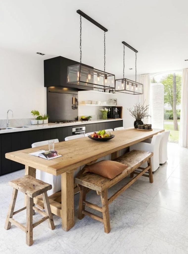 Moderne Und Anspruchsvolle Kuchentische Fur Jeden Geschmack Homedesign Kitchen Interior Home Kitchens Long Dining Table