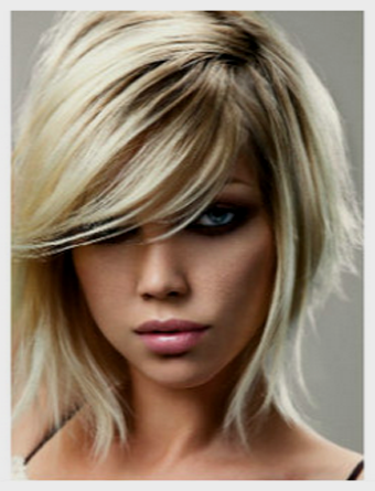 Layered Inverted Bob With Side Swept Bangs Hair Hair Styles