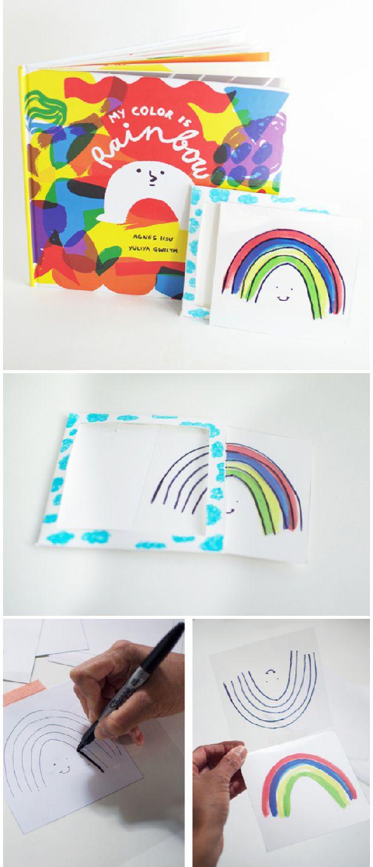 rainbow magic card trick make this fun card with kids