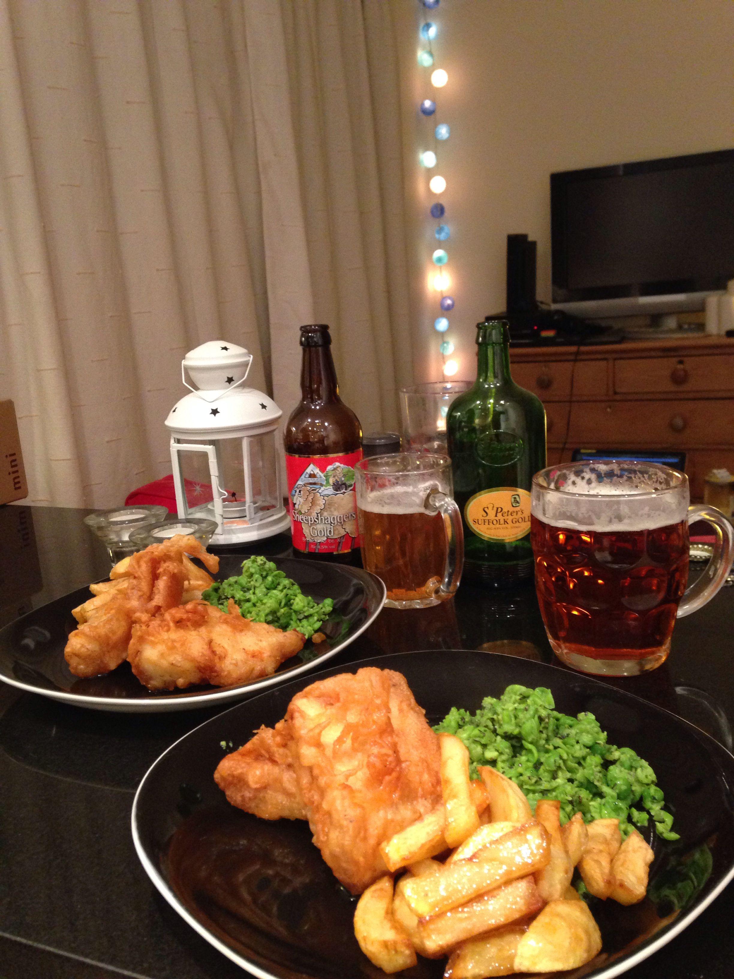 Leftover River Cottage beer = homemade beer-battered cod and chips.