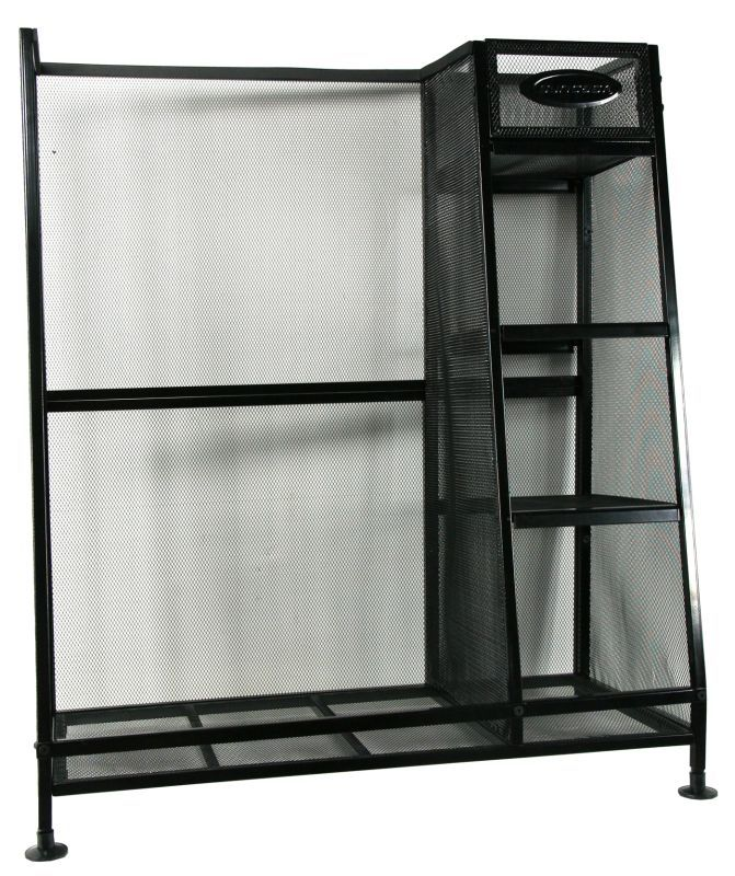 Suncast GO3216 32 Inch Wide Golf Bag Storage Unit Black Garage Cabinets  Storage