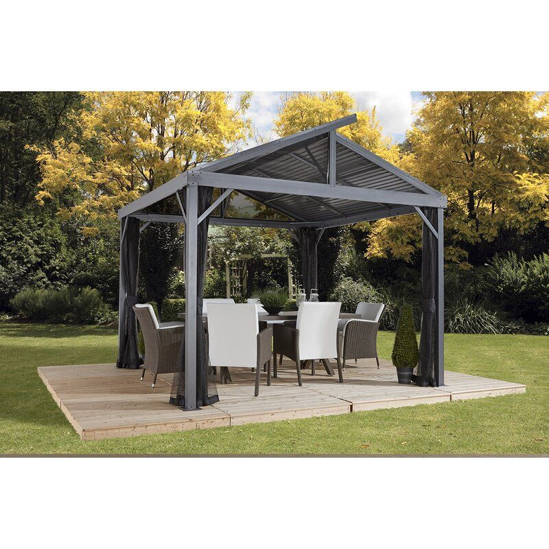 Willesden Metal Patio Gazebo In 2020 Patio Gazebo Gazebo Hardtop Gazebo