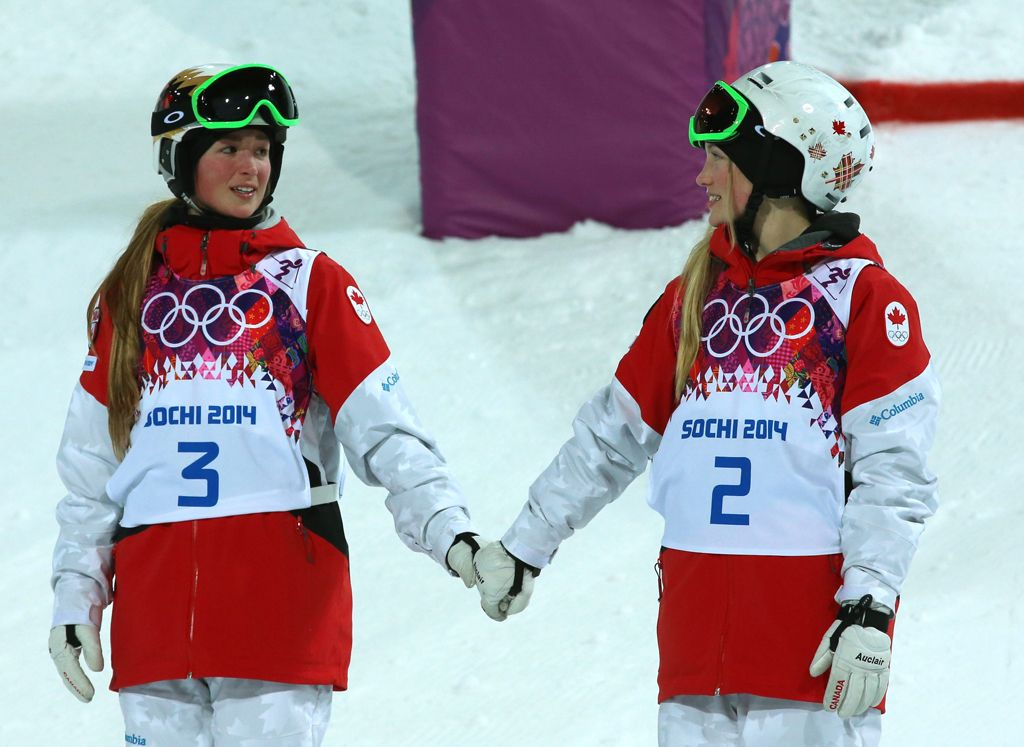 Justine and Chloe Dufour-LaPointe, Canada  winners of gold and silver at Sochi Olympics