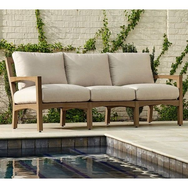 Pottery Barn Tropez Sofa ($2,299) ❤ Liked On Polyvore Featuring Home,  Outdoors,