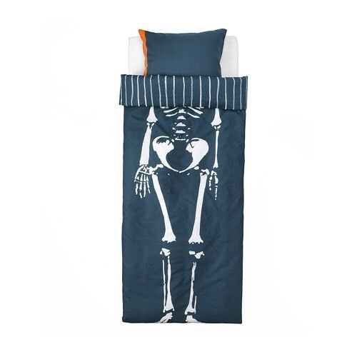 Ikea Benrangel Skeleton Twin Duvet Cover Set Paslakan Orngott Ikea