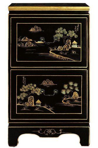 Etonnant Hand Painted Milieu 2 Drawer File Cabinet, TWO DRAWER, BLACK LANDSCAPE By  Home