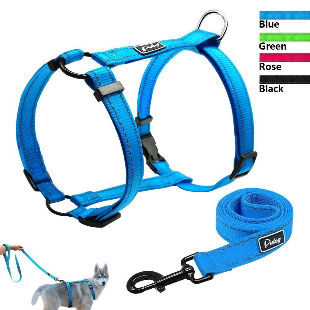 Reflective Adjustable H Type Dog Harness With Leash Dog Harness