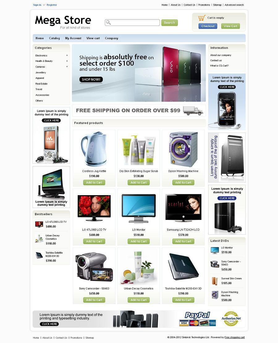 CST010018 - Premium CS-Cart Mega Store Template | CS-Cart Themes ...