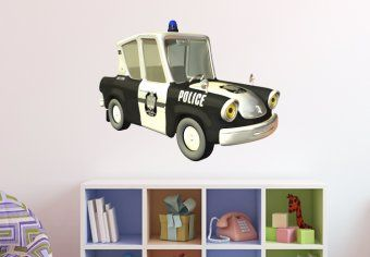 Police Car Wall Decal - Kids Room Interior Decals