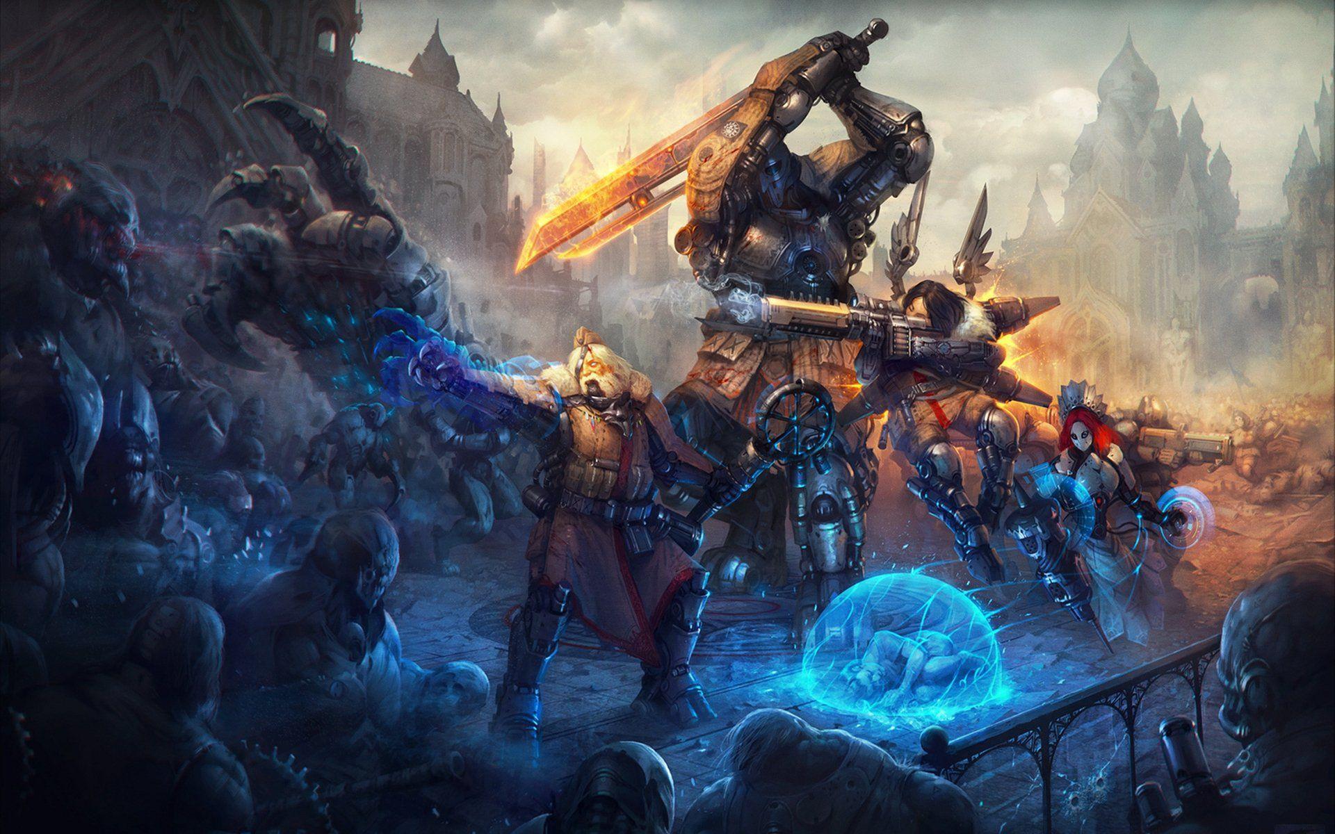 Sci Fi Battle Wallpaper Desktop Pfx Fantasy Art Warrior Fantasy Art Art