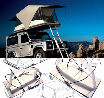 Concept Roof Top Tent I want it for the Jeep! & Rooftop tent. Perfect for camping on lava fields.   to the water ...