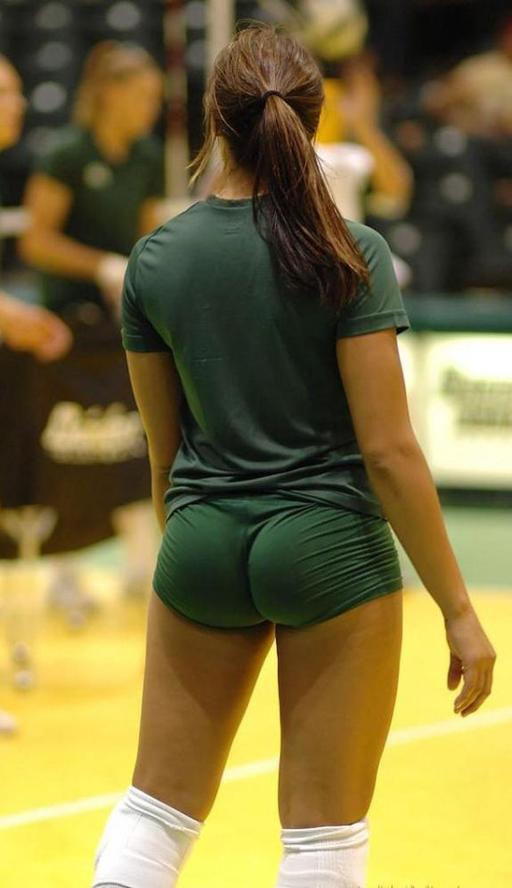 Girls in volleyball spandex ass