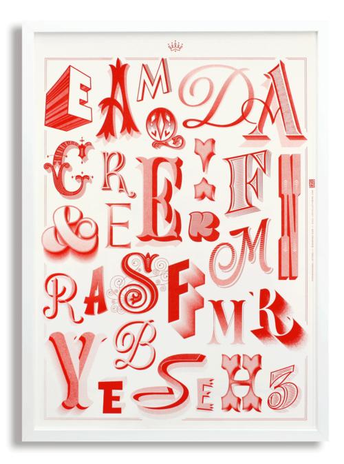 d447e95337 Tridimensional letters poster by Martina Flor Goods Monogramas, Catálogo,  Cartas