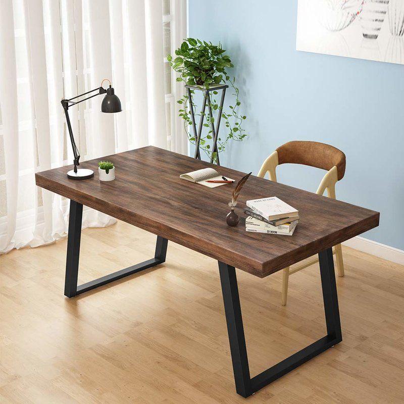 Caylor Computer Desk Allmodern Solid Wood Desk Wood Computer Desk Furniture