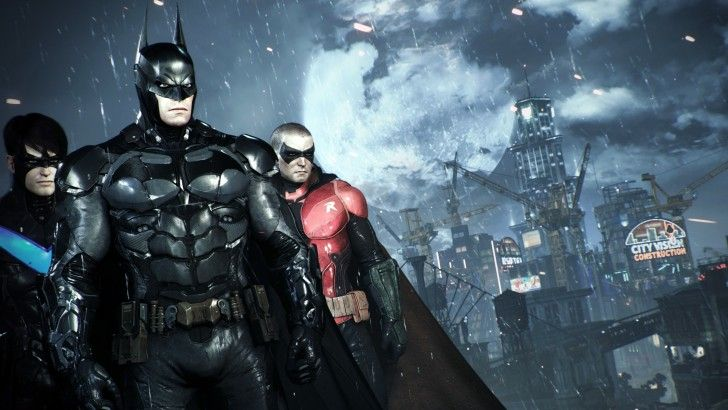download nightwing batman robin in batman arkham knight wallpaper 4k
