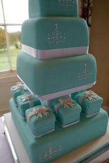 Let Them Eat Cake!: Beautiful Tiffany Blue Wedding Cake!