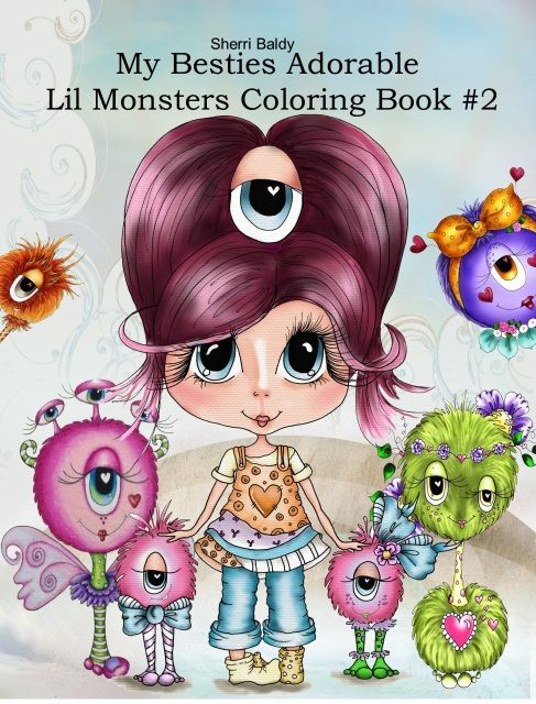 Lil Monsters 2 INSTANT Digital Download Coloring Book 29 Images By