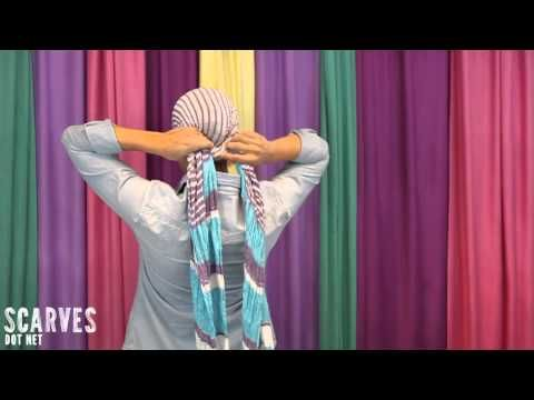 How To Tie A Head Scarf Side Scarf Pony Diy Do39s And