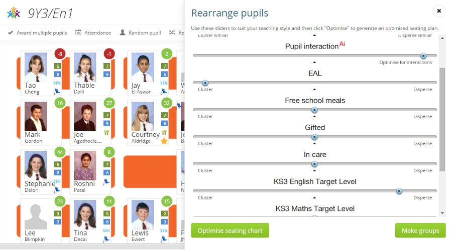 Classroom Behaviour Management Software Seating Plans \ Analytics - free classroom seating chart maker