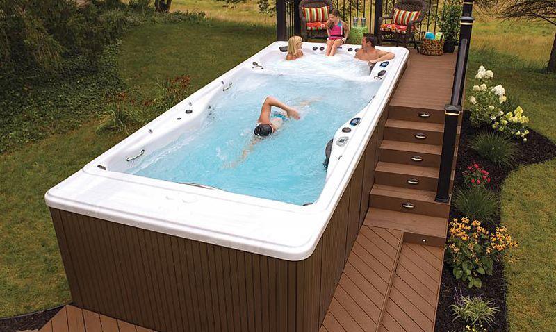 Back Yard Ideas Backyard Spa Swim Spa Swim Spa Deck