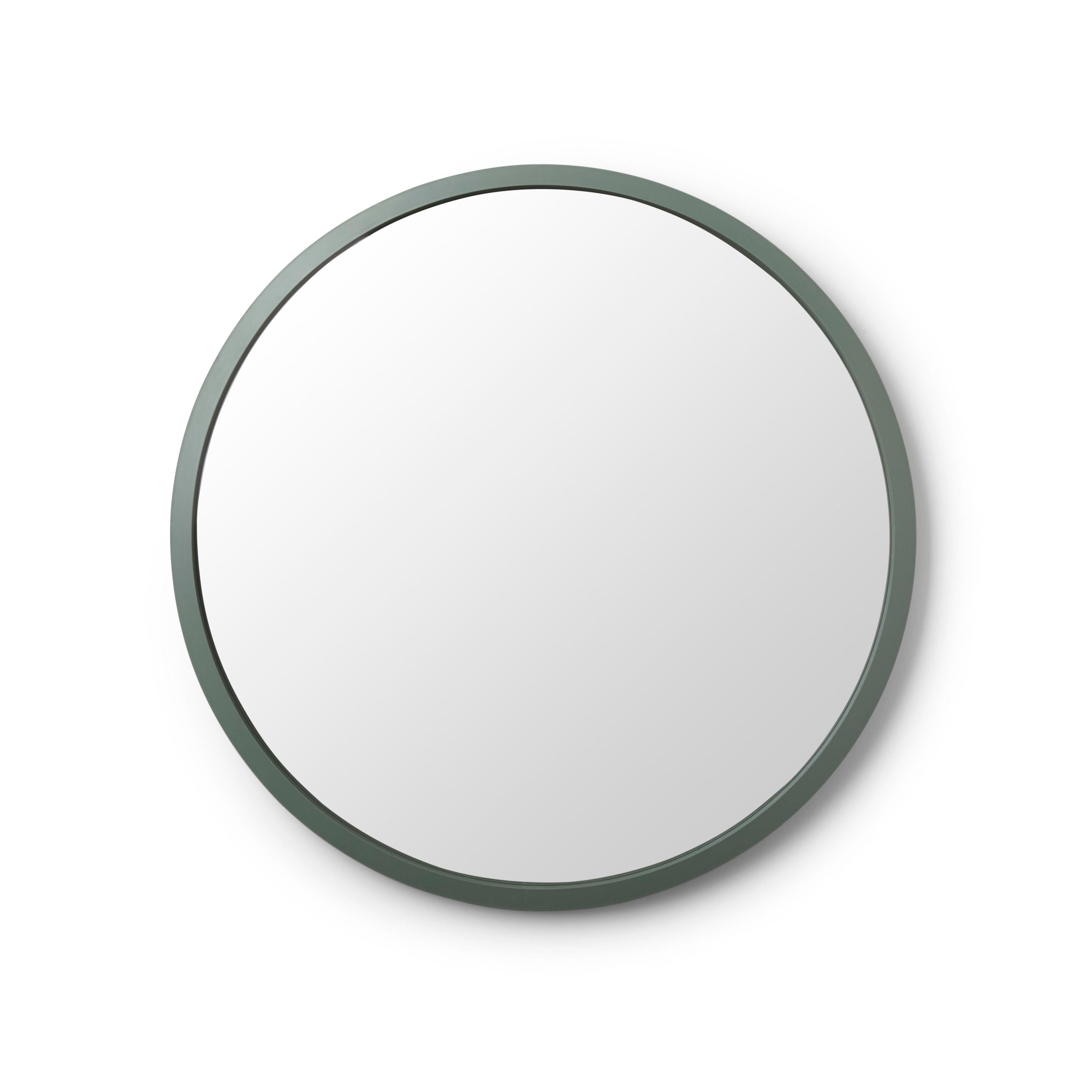 Umbra Hub 24 Inch Round Modern Wall Mount Mirror Accent Mirrors Mirror Mirror Wall